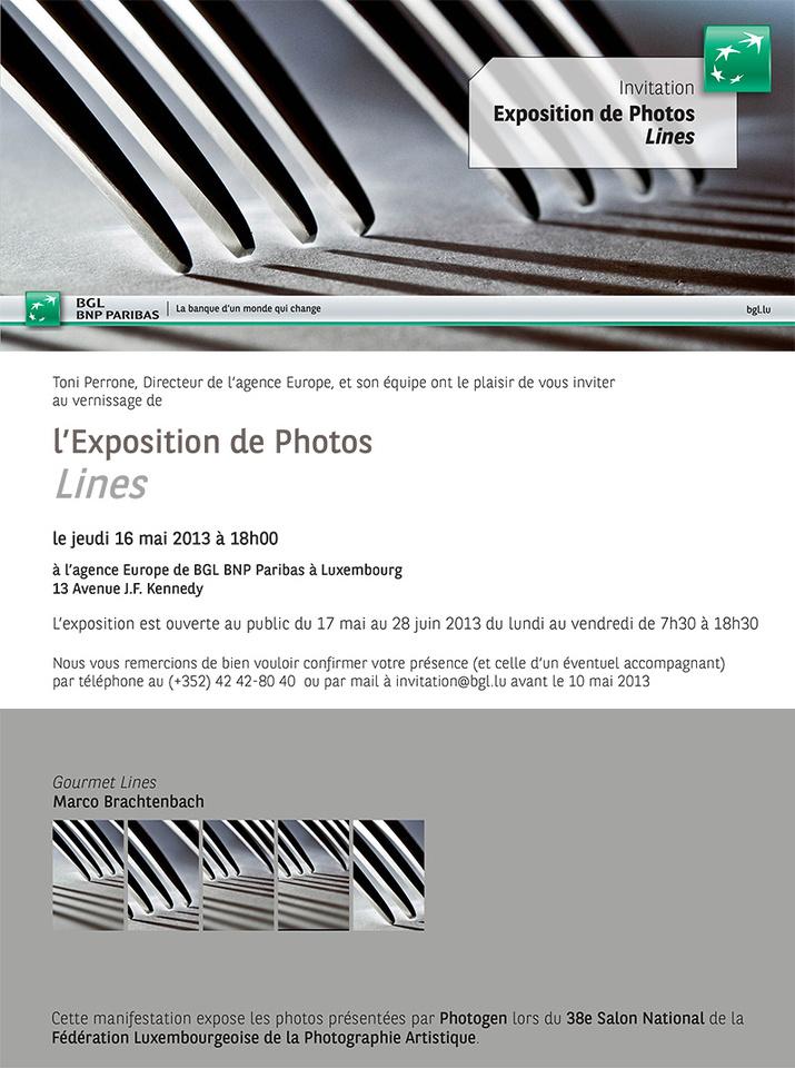 Photo exhibition Lines